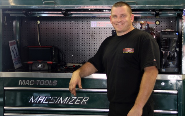 Jim is the hands on owner of Carm's Automotive ready to service your car. He will treat it as if he owns it.